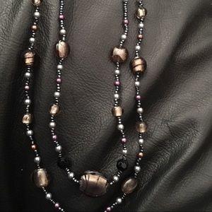 Vintage Premier Designs glass bead necklace
